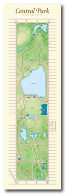 The Central Park Map Print picture