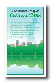 Runner's Map of Central Park picture