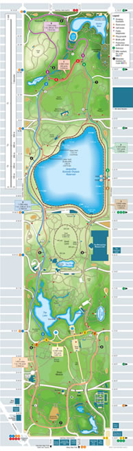 Runner's map of Central Park